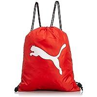 Puma Turnbeutel Pro Training Gym Sack - Bolsa para balones de fútbol, multicolor (black/puma red/white),  38 x 48 x 0.5 cm, 1.0 l