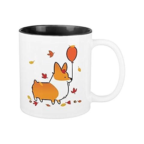 Weihnachten Kaffee Tassen, Geschenke für Herren rot Corgi Keramik Fallen in Herbst Tasse corgithings Tasse Funny für Frauen Büro Keramik Tasse 312