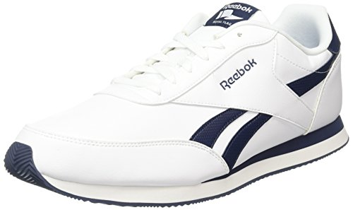 Reebok Herren Royal Cl Jog 2l Turnschuhe, Blanco (White / Collegiate Navy), 50 EU