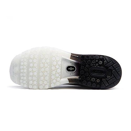 ONEMIX Air Scarpe da Ginnastica Corsa Basse Donna Uomo Sportive Basket Running Sneaker Estive Black White