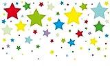 anna wand Wandsticker STARS 4 BOYS - Wandtattoo für Kinderzimmer/Babyzimmer mit Sternen in versch. Farben - Wandaufkleber Schlafzimmer Mädchen & Junge, Wanddeko Baby/Kinder