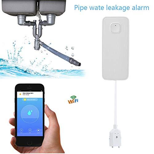 Belukies Alarma inalámbrica Fugas Agua WiFi Sensor