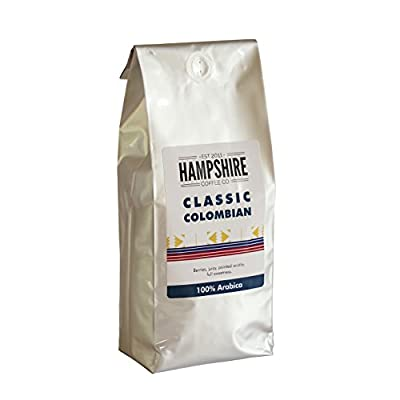 Hampshire Coffee Co - Classic Colombian - Coffee Beans 500g Bag - 100% Arabica Beans - Suitable for all Coffee Machines