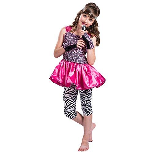 EraSpooky Mädchen 80's Pop Rock Star Kostüm (Für Mädchen Pop-star-kostüme)
