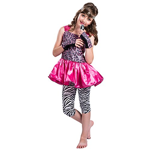 (EraSpooky Mädchen 80's Pop Rock Star Kostüm)