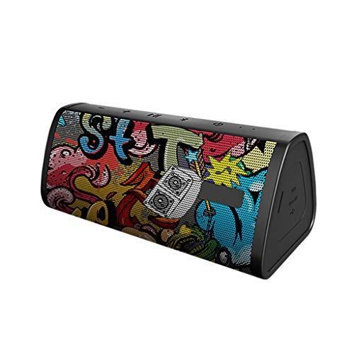 Altoparlanti Altoparlante Bluetooth Senza Fili Mini Subwoofer Portatile Esterno Impermeabile Portatile Piccolo Suono Home Car Music Player Bluetooth Speaker (Color : Black)