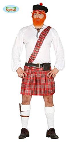 Schottenkostüm für Herren Schotte Kostüm Willy Schottenrock Kostüm Gr. M / L, (Kostüm Schotte)