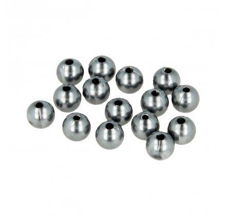 Perles rondes 14 mm - Chrome Argenté - 28 pcs environ