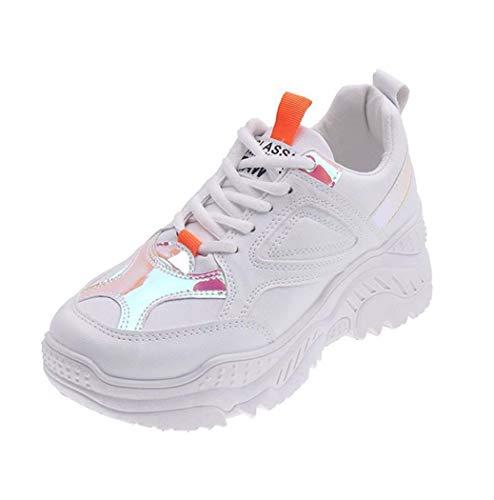BHPL Frauen Sport Golf Schuhe Weiß beiläufige Gehen Golf Turnschuhe Trainings Turf Mädchen Golf Tennisschuhe,B,39