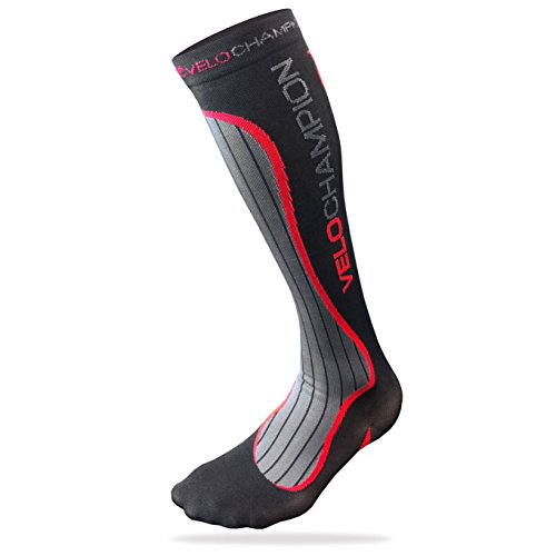 VeloChampion Calcetines Compresion Deporte (Negro) Compression Socks (Black Small)