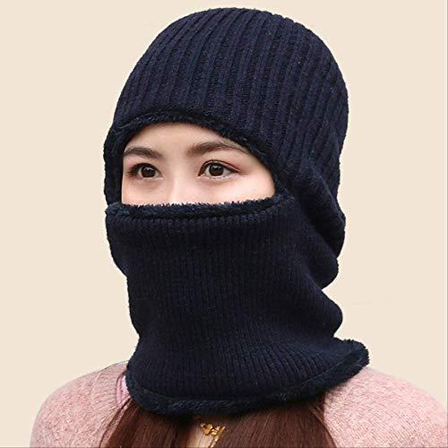 Sombrero grueso invierno Máscara Sombreros punto