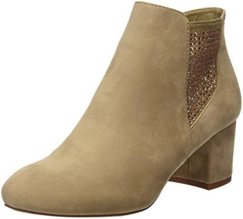 Maria Mare Damen Basic Calzado Señora Geschlossene Schuhe mit Absatz, Schwarz Braun (PEACH TAUPE)
