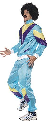 Smiffy's – 80er Jahre Kostüm für Herren Trainingsanzug Training Assianzug Assi in - 3