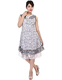 Beautiful White net Dress From the House of Aprique Fab