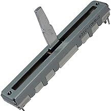 Aerzetix - 2 x Potenziometro scorrevole lineare stereo da 3/4 mm 10kΩ 125mW ±20% THT 60x8x7mm C14918 .