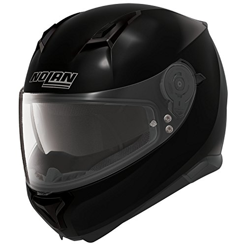Nolan N87Classic Integral Casco Moto policarbonato N- Com–Color Negro Brillante Tamaño 2X L