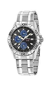 Lotus 15301/7 - Reloj para hombres, correa de acero inoxidable color plateado