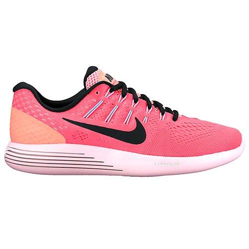 Nike  Wmns Lunarglide 8, chaussures de course femme Orange (Hot Punch/lava Glow/aluminum/black)