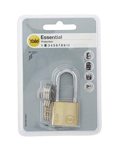 Yale YE1/30/132/1/B Candado de Seguridad de Arco Largo, 30 mm