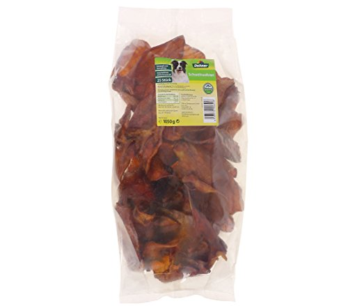 Dehner Hundesnack, Schweineohren, 25 Stück, 1050 g