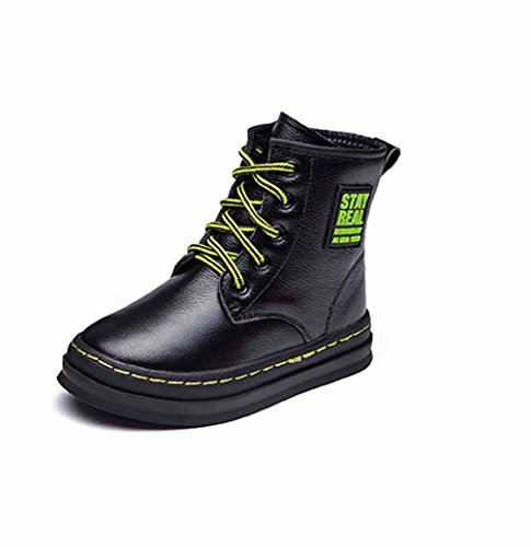 1a6e7f2ac4d Qianliuk Kids Shoes children Boys Girls Waterproof Genuine Leather Mid-Calf  Lace Up Warm Boots(Little Big Kids 4-16 Years Old) - Babaloo