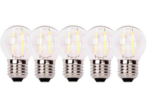 XQ-lite 5-er Pack LED-Filament Glühbirne E27 2 W ersetzt 20 W, 200 lm, warm weiß XQ1404-5