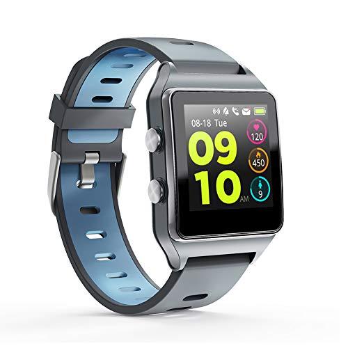 MOTOK 【Neuest 2019】 Smartwatch, Fitness Tracker 1,3 Zoll Touchscreen mit Herzfrequenzmesser und Schlafmonito, Fitness Armbanduhr GPS Sport Uhr IP68 wasserdichte Schrittzähler-Uhr für Android und iOS