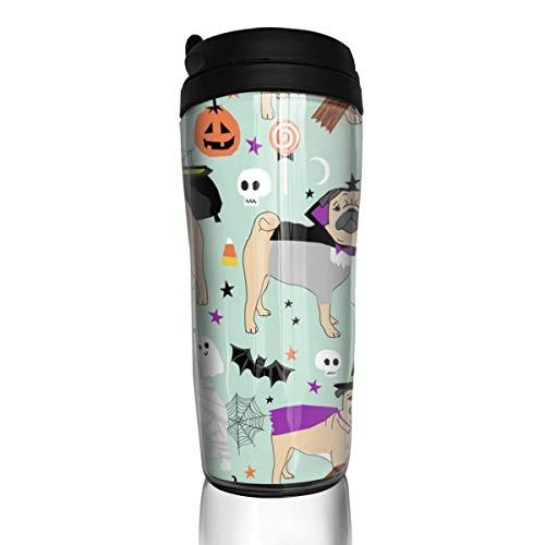�m - süße Hunde in Kostümen - Mint_24620 Kaffeetasse, 340 ml, auslaufsicher, mit Klappdeckel, Wasserflasche, umweltfreundliches Material ABS ()