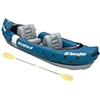 SEVYLOR Riviera Kayak hinchable, kayak de mar 2 personas, piragua hinchable, canoa inflable, 315 x 84 cm, incl. Remo