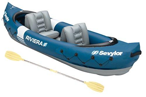 faltboot kajak Sevylor Kanu aufblasbar Riviera Faltkajak, 2 Personen, Kanadier inkl. Paddel, 315 x 84 cm