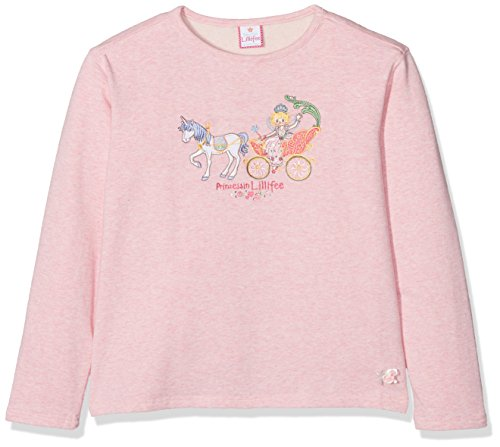 Prinzessin Lillifee by Salt & Pepper Mädchen Sweatshirt L Sweat Lillifee Kutsche, 75611260_808, Rosa (Powder Rose Melange 808), 128/134