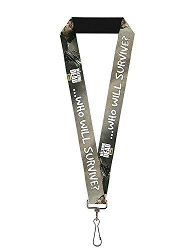 Buckle Down Unisex-Erwachsene Lanyard-The Walking Dead Schlüsselanhänger, Mehrfarbig, Standard