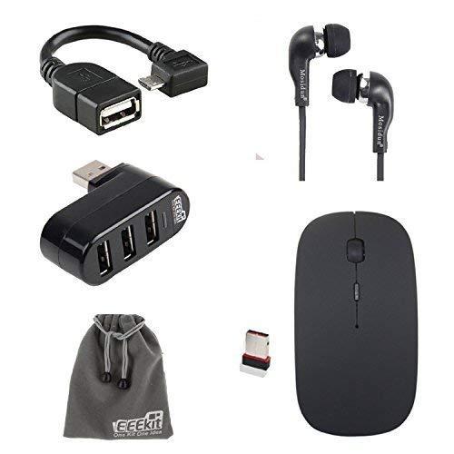 5-in-1 Office Kit für Samsung Galaxy Tab A 9.7/E-Fun Nextbook 10.1 Zoll/Nextbook 8 Windows 8.1, OTG-Kabel, USB-Hub, kabellose Maus und Kopfhörer (Nextbook Mäuse Für)