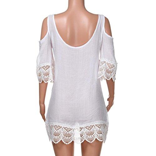 0f01f8fad Overdose Cubiertas para Mujer Summer Kimono Beach Bikini Covers Half Lace  Solid.