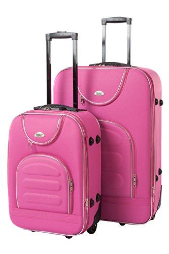 Softcase Kofferset New York 2-teilig Gr. M+XL, 56+76cm, 21+57 Liter 7 verschiedene Farben (pink)