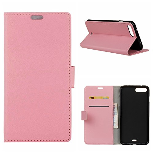 MOONCASE iPhone 7 Plus Bookstyle Étui Housse en Cuir Case Support à rabat Coque de protection Portefeuille TPU Case pour iPhone 7 Plus Blanc Rose