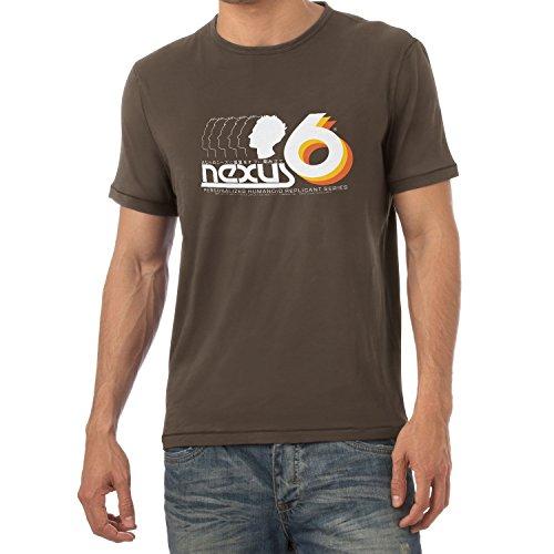 NERDO - Nexus 6 Personalized Humanoid Replicant Series - Herren T-Shirt Braun