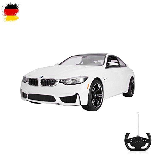 BMW M4 COUPE - RC ferngesteuertes Lizenz-Fahrzeug im Original-Design, Modell-Maßstab 1:14, Ready-to-Drive, Auto inkl. Fernsteuerung