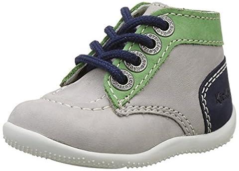 Kickers Bonbon, Chaussures Premiers pas Bébé Mixte - Gris (Gris Vert Bleu) - 24