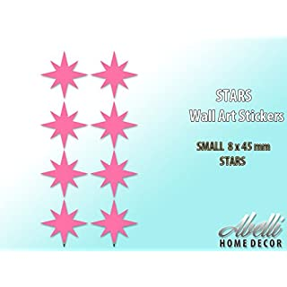 Pink STARS, Home Decor Art Wall Stickers (Small 8 x 45 mm), Abelli Home Decor