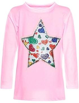 BEZLIT - Blusa - Blusa - Estrellas - Cuello redondo - Manga Larga - para niña Rosa 10 años
