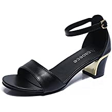 BUIMIN - Las Mujeres Sandalias De Verano De Punta Estrecha Zapatos De TacóN Alto Zapatos De Boda