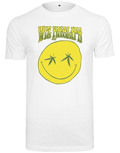 Mister Tee Herren Wiz Khalifa Smile Tee T-Shirt, White, M