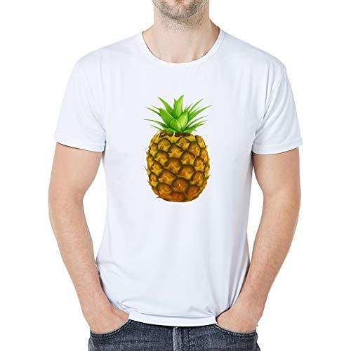 Floweworld Herren Kurzarm T-Shirt 2019 Männer 3D Druck Kreative Tops Sommer Rundhals Casual Shirts Grundlegende Ananas Gedruckt Bluse