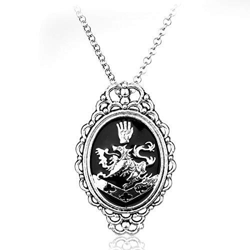 Vampir Cullen Kostüm - DADATU Halsketten für Herren Schmuck Film Vampir Twilight Rosalie Cullen Löwe Halsband Halskette Halskette Für Frauen Männer Geschenk