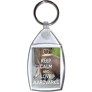 Keep Calm and Love Aardvarks - Keyring