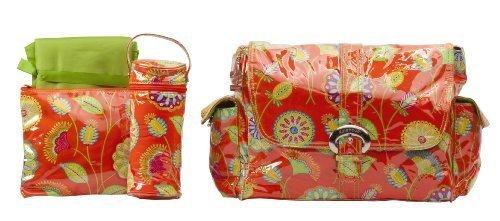 kalencom-laminated-buckle-changing-bag-gypsy-rose-orange-by-kalencom