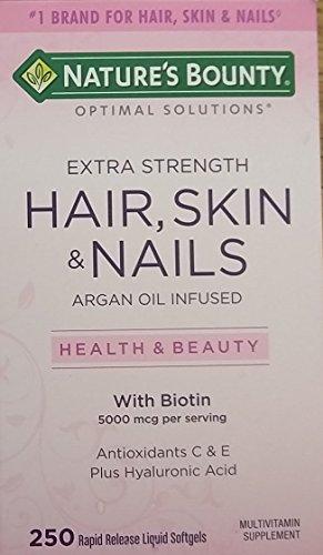 Natur Aus Biotin (Haar Haut Nails Arganöl Erfüllte, 5000 mcg Biotin, 250 Rapid Release Kapseln Flüssigkeit)