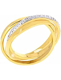 Isady - Lilo Gold - Ladies Ring - 18ct Yellow Gold Plated - Cubic Zirconia transparent