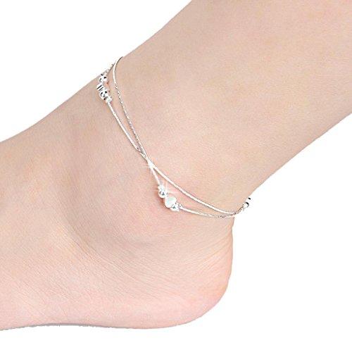 Schmuck Damen Fußkettchen DAY.LIN Sexy Frauen lieben Knöchel Kette Fußkettchen Fuß Schmuck Sandale Beach (Fuß-tangas Für Frauen)